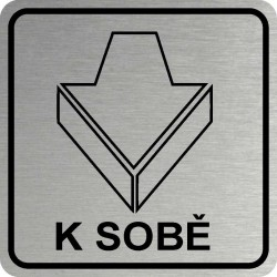 Piktogram DVEŘE K SOBĚ 1 STR