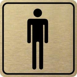 Piktogram WC MUŽI 1 ZL