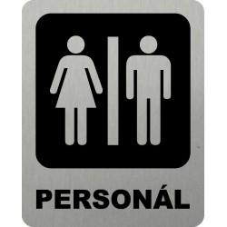 Piktogram WC PERSONÁL 3 STR...