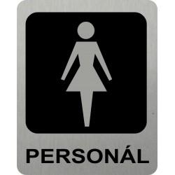 Piktogram WC PERSONÁL ŽENY...