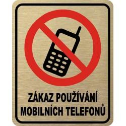 Piktogram ZÁKAZ MOBILŮ 4 ZL...