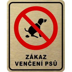 Piktogram ZÁKAZ VENČENÍ 6...