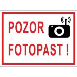 Cedule POZOR FOTOPAST 1