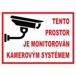 Cedule PROSTOR MONITOROVÁN 1