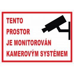 Cedule PROSTOR MONITOROVÁN 2
