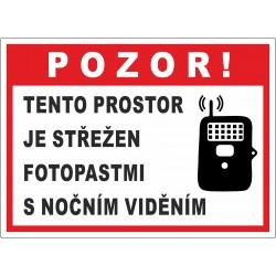 Cedule POZOR FOTOPAST 2