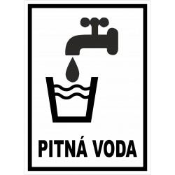Cedule PITNÁ VODA 1
