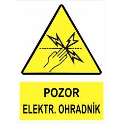 Cedule POZOR ELEKTRICKÝ...