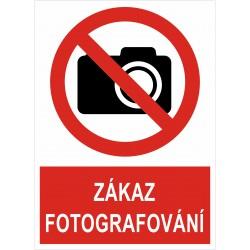 Cedule ZÁKAZ FOTOGRAFOVÁNÍ 1