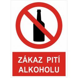 Cedule ZÁKAZ PITÍ ALKOHOLU 1