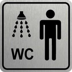 Piktogram SPRCHA + WC MUŽI...