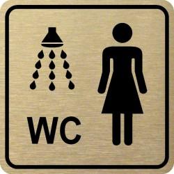Piktogram SPRCHA + WC ŽENY...